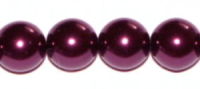 Aubergine 8mm Glass Pearl Bead x10