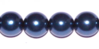 Montana Blue 8mm Glass Pearl Bead x10