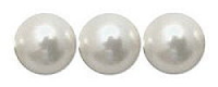 Snow White 8mm Glass Pearl Bead x10