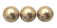 Coffee 8mm Glass Pearl Bead x10