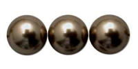 Dark Bronze 8mm Glass Pearl Bead x10