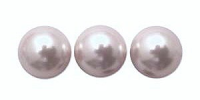 Light Silver 8mm Glass Pearl Bead x 10