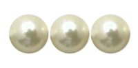 Cream 8mm Glass Pearl Bead x10