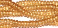 Champagne Lustre 4x2mm Rondelle Bead x10