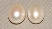Natural White (Grade AA) Half Drilled Fresh Water Pearl Drop x 1