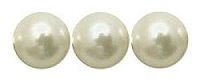 Natural White 10mm Shell Pearl Beads x 15.5""