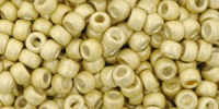 Light Gold Matt 8/0 Permanent Metallic Toho Seed Bead 10g