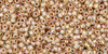 Crystal (AB) Gold Lined 15/0 Toho Seed Bead 5g