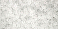 Crystal Frosted 15/0 Toho Seed Bead 5g
