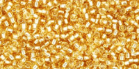 Light Gold Silver Lined 15/0 Toho Seed Bead 5g