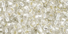 Crystal Silver Lined 8/0  Toho Seed Bead 10g