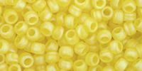 Frosted Lemon (AB) 8/0 Toho Seed Bead 10g