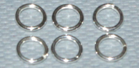 4mm x 0.64mm Open Jump Ring  Sterling Silver x10