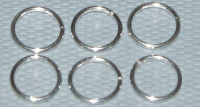 6mm x 0.64mm  Open Jump Ring Sterling Silver x10