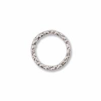 10mm Closed Textured Ring Sterling Silver x1