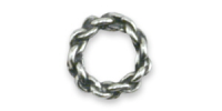 8mm Closed Chain Ring Antique Sterling Silver x1
