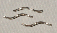 Sterling Silver 18x1mm Wavy Tube x1