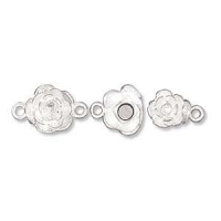 Rose Magnetic Clasp Sterling Silver x1