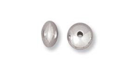 Saucer Bead 4mm Sterling Silver x 1