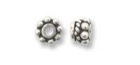Bali Bead 4mm Sterling Silver x 1