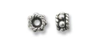 Heishi 5x3mm Bead Sterling Silver x 1