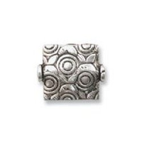Square Bead 10mm Sterling Silver x 1