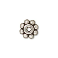 Bali Spacer Bead 5mm Sterling Silver x1