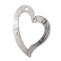 Open Heart Pendant Sterling Silver x1