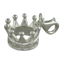 Crown Clip-on Charm Sterling Silver x1