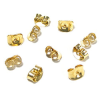 Scroll/Butterfly Backs 5mm 14ct Gold Filled x1