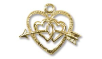 12mm Heart Charm 14ct Gold Filled x1
