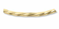24mm Curved Bracelet Tube 14ct Gold Filled x1