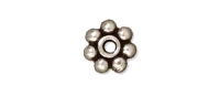 4mm Spacer Bead Antique Silver Plated x 100
