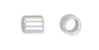 1.3mm Crimp Tube Silver Plated x 100