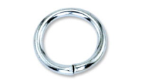6mm x 0.8mm Jump Ring Rhodium Plated x10