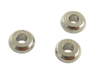 Spacer Bead 4x2mm Rhodium Plated x 50