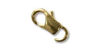 11mm Lobster Clasp (open ring) Gold Plated x 12
