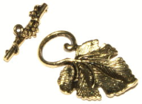 Vine Toggle Clasp Antique Gold Plated x1