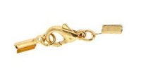 Small End Closure Clasp Gold Plated x1