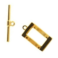 Rectangle Toggle Clasp Gold Plated  x1