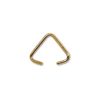 Small Triangle Bail  6mm Gold Plated x 12
