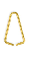 Triangular Bail 10mm Gold Plated x 12