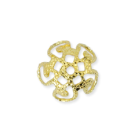 Bead Cap 10mm Gold Plated x 1