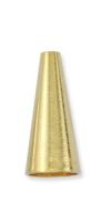 Plain Cone 12mm Gold Plated x 2