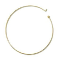 Neck Wire (removable ball) Gold Plated x1