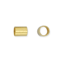 1.5mm Crimp Tube Gold Plated x 100