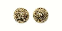 6mm Filigree Round Bead Gold Plated x 12