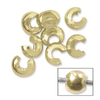 4mm Crimp Bead Cover Gold Plated x 12