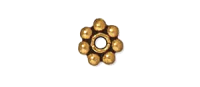 4mm Spacer Bead Antique Gold Plated x50