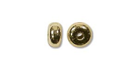 4.5x2mm Rondelle Bead Gold Plated x12